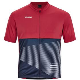 Cube ATX Full Zip SS Jersey Men, czerwony/niebieski